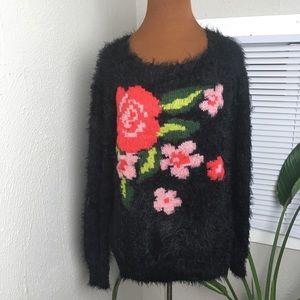Jessica Simpson fuzzy sweater